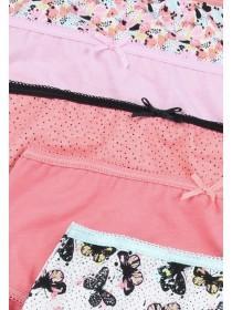 Older Girls 5pk Pink Butterfly Briefs
