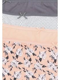Womens 4pk Printed Shorts