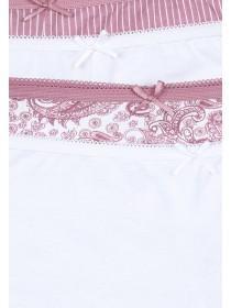 Womens 4pk Pink Paisley Shorts