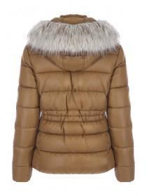 77e951503a Womens Bronze High Shine Padded Coat Womens Bronze High Shine Padded Coat