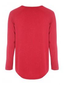Womens Red Sparkle Lounge Top