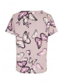 Womens Mocha Butterfly Soft Touch Pyjama Top