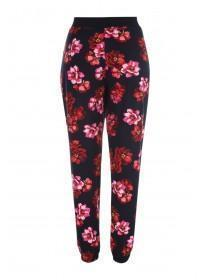 Womens Red Floral Soft Touch Pyjama Bottoms
