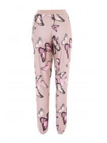 Womens Mocha Butterfly Soft Touch Pyjama Bottoms
