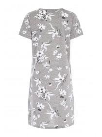Womens Grey Floral Nightdress