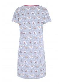 Womens Grey Llama Nightdress