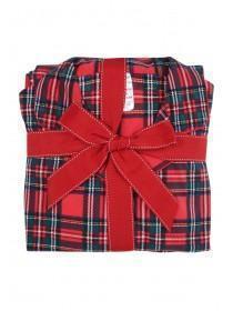 Womens Red Tartan Pyjama Set