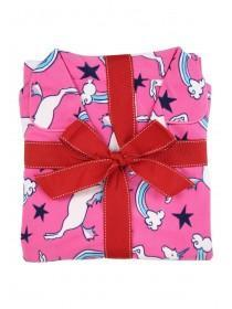 Womens Pink Unicorn Pyjama Set
