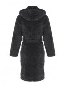 Mens Black Marl Dressing Gown