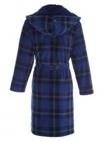 Mens Blue Check Dressing Gown