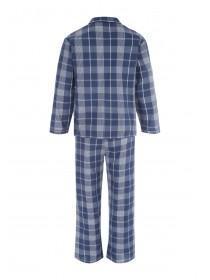 Mens Navy Check Pyjama Set