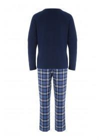 Mens Blue Checked Pyjama set