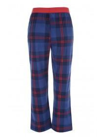 Mens Blue and Red Check Pyjama Bottoms