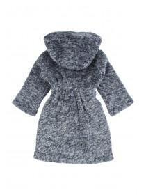Boys Navy Sherpa Dressing Gown