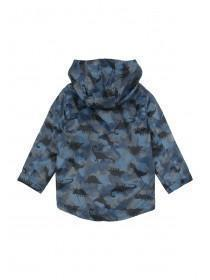 Younger Boys Blue Dinosaur Print Rain Jacket