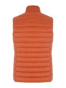 Mens Orange Padded Gilet