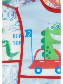 Baby Boys 2pk Blue Dinosaur Bibs