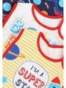 Baby Boys 5pk Space Slogan Bibs