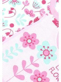 Baby Girls 3pk Pink Floral Pop Over Bibs