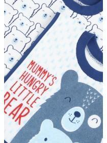 Baby Boys 3pk Blue Bear Pop Over Bibs
