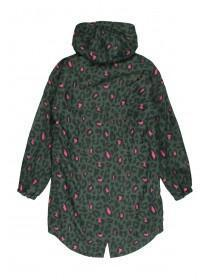Older Girls Khaki Animal Print Lined Rain Jacket