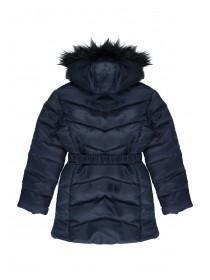 Older Girls Navy Belted Coat