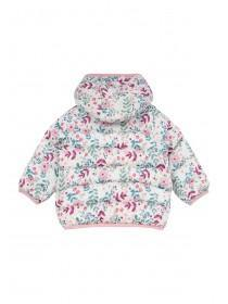 Baby Girls Pink Floral Padded Jacket