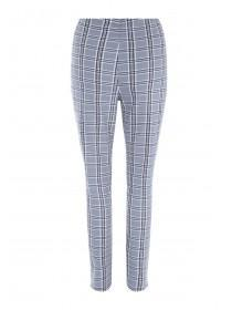 Womens Grey Check Zip Trousers