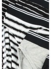 Mens 4pk Monochrome Striped Briefs