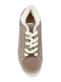 Womens Mink Lace Up Trainers