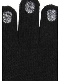 Older Girls Black Nail Gloves