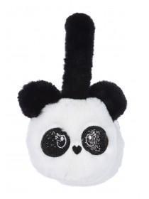 Younger Girls Monochrome Panda Earmuffs