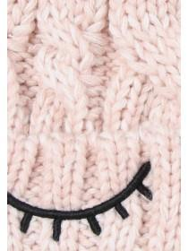 Older Girls Pale Pink Eyelash Hat