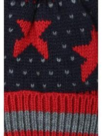 Younger Boys Navy Star Hat