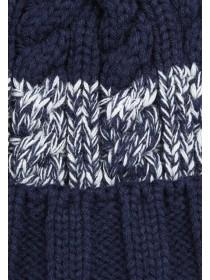 Older Boys Blue Stripe Bobble Hat