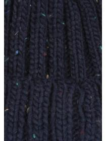 Older Boys Navy Pom Hat