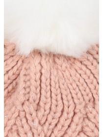 Older Girls Pink Hat And Gloves Set