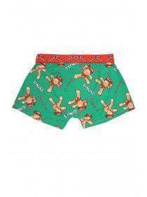 Mens Green Novelty Christmas Boxers