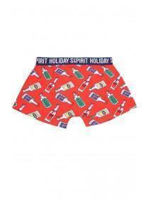 Mens Red Novelty Holiday Spirit Boxers