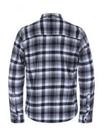 Mens Monochrome Check Flannel Long Sleeve Shirt