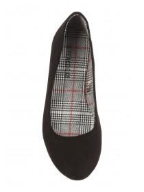 Womens Black Ballet Flat Shoes