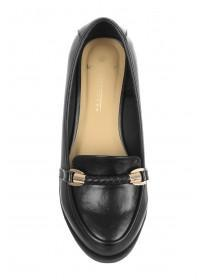 Womens Black Loafer Shoes