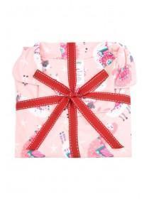 Girls Pink Llama Pyjama Set