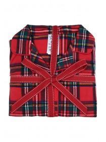 Girls Red Tartan Pyjama Set
