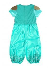 Younger Girls Teal Shimmer and Shine Fancy Dress Outfit