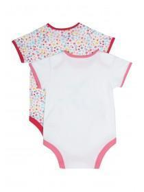 Baby Girls 2pk Pink Bird Bodysuits