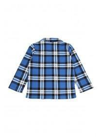 Boys Blue Check Pyjama Set