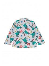 Boys Grey Dinosaur Pyjama Set