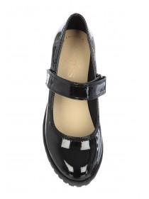 Girls Black Patent Mary Jane Shoes