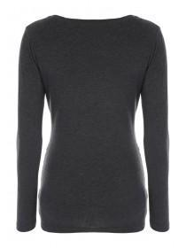 Maternity Charcoal Grey Long Sleeve Top